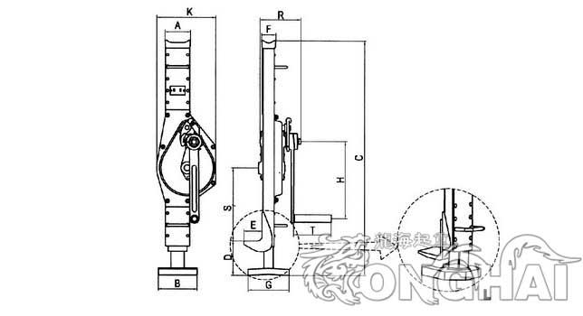 手摇器自锁内部结构图